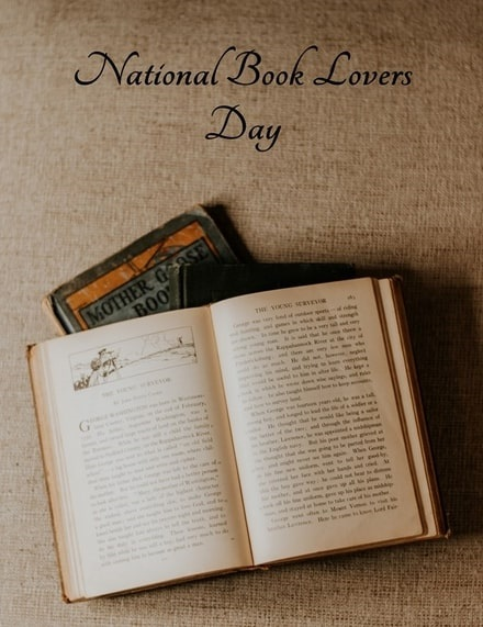 Photo: a poster for National Book Lovers Day