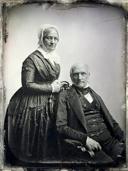 Photo: unidentified man and woman, c. 1850