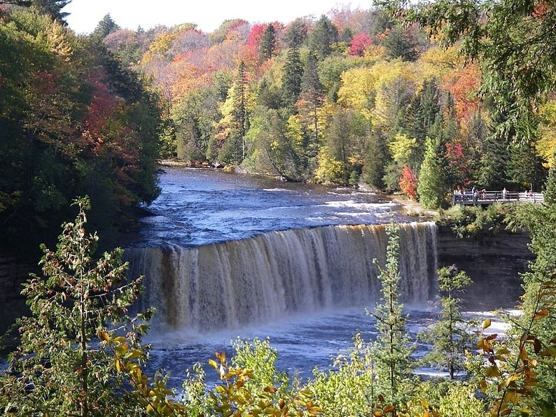 Photo: the Tahquamenon Falls are located near Whitefish Point and Paradise, Michigan