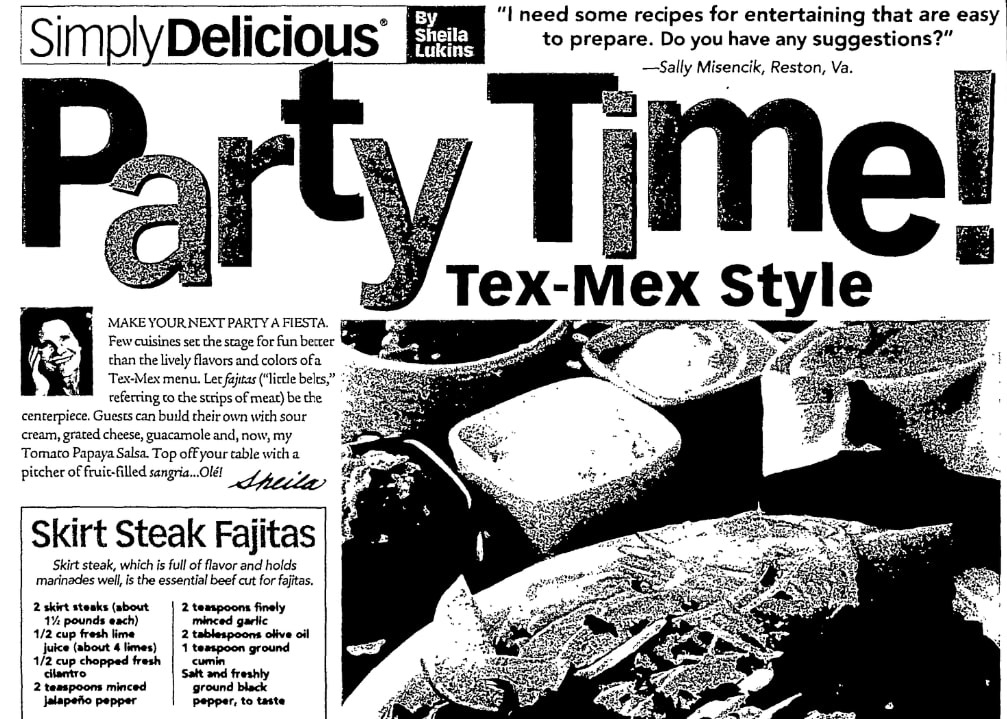 An article about fajitas, State Journal-Register newspaper article 24 June 2007