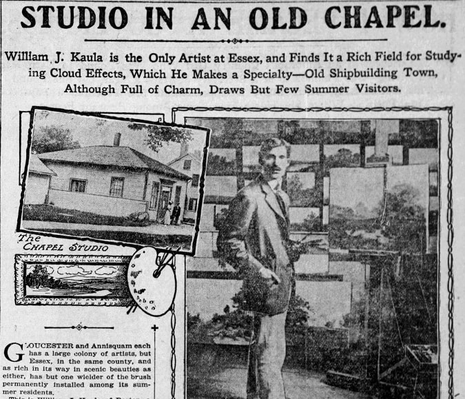 An article about William Kaula, Boston Globe newspaper article 23 August 1908