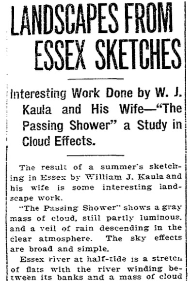 An article about William and Lee Kaula, Boston Herald newspaper article 28 November 1909