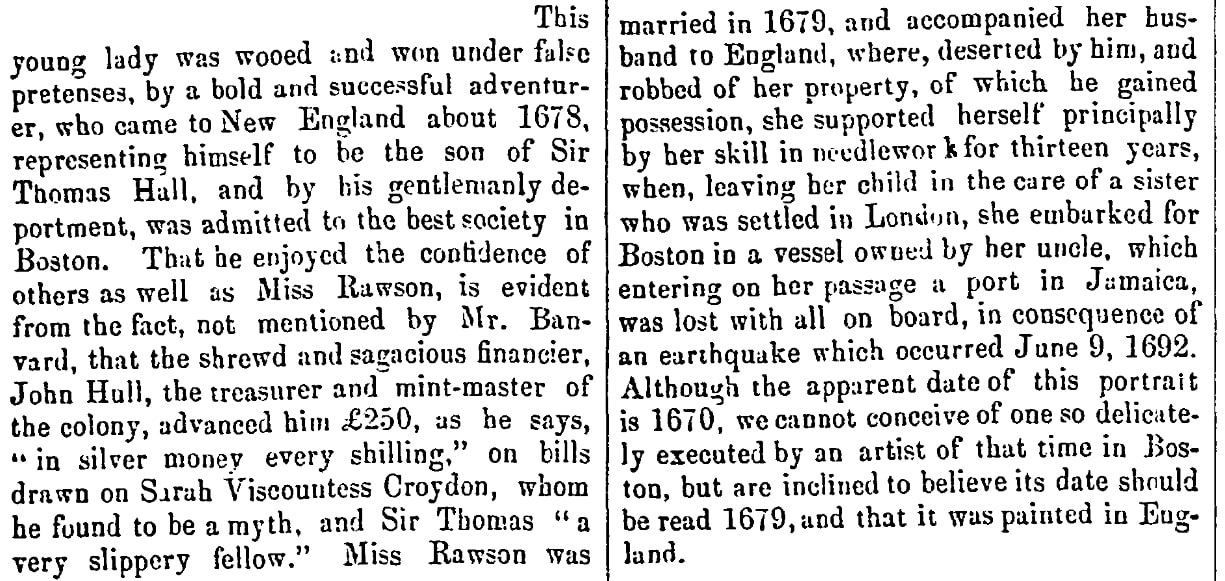 An article about Rebecca Rawson, Christian Witness and Church Advocate newspaper article 6 April 1860