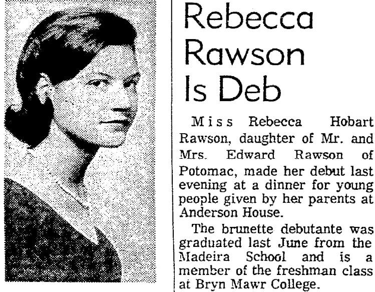 An article about Rebecca Hobart Rawson, Evening Star newspaper article 23 December 1965