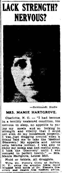 An article about Mamie Hartgrove, Greensboro Daily News newspaper article 6 May 1931