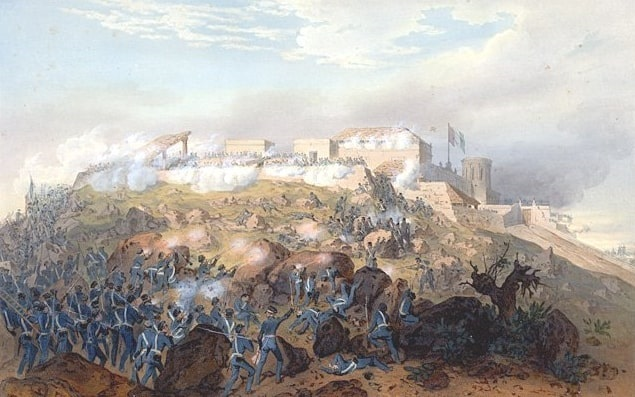 Illustration: Battle of Chapultepec during the Mexican-American War