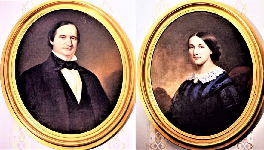 Illustrations: Aphonso Taft (1810-1891) and his wife Louisa Maria Torrey Taft (1827-1907), parents of William Howard Taft, by William Walcutt. Courtesy of the Ohio Memory Collection and William Howard Taft National Historic Site.