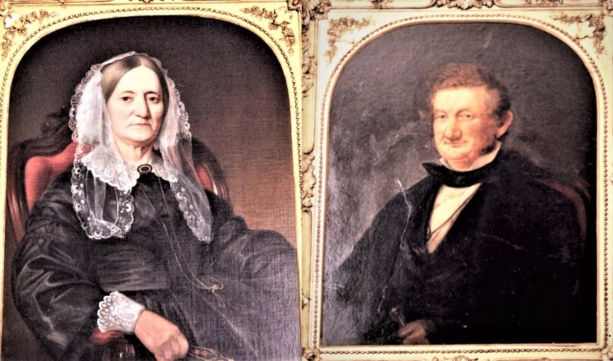 Illustrations: Sylvia Howard Taft (1793-1866) and Peter Rawson Taft (1785-1867), by William Walcutt. Courtesy of the Ohio Memory Collection and William Howard Taft National Historic Site.
