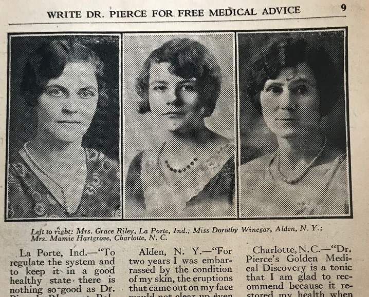 """Photo: Mrs. Grace Riley, Miss Dorothy Winegar, and Mrs. Mamie Hartgrove, from """"Good Cooking"""" by R. V. Pierce, M.D."""
