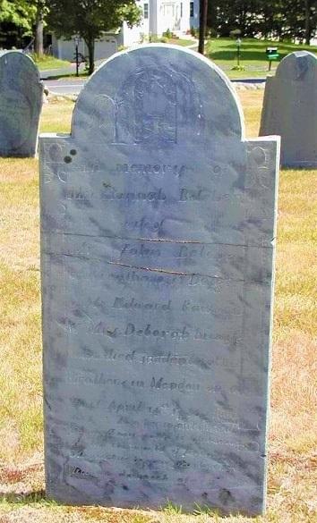 Photo: gravestone of Hannah Rawson Belcher (1751-1786), Old Cemetery, Mendon, Massachusetts