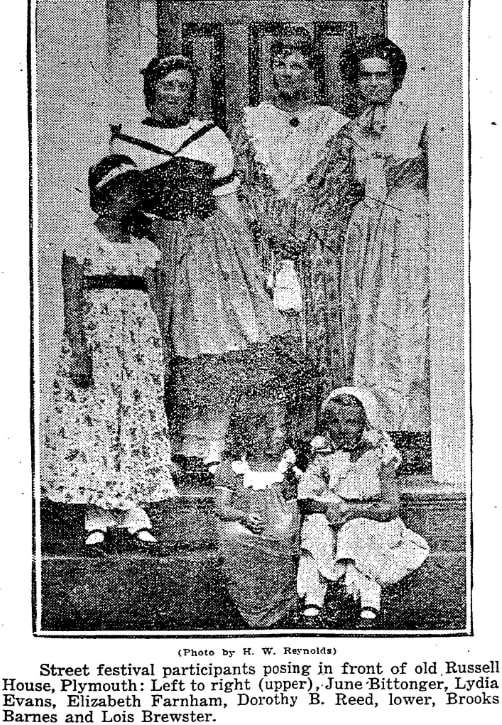 An article about the Plymouth Colonial Street Fair, Boston Herald newspaper article 23 July 1925