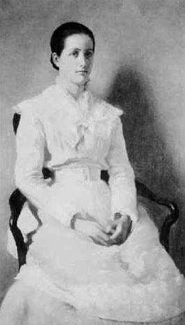 Illustration: Clara Endicott Sears, painted by Harper Pennington, 1880