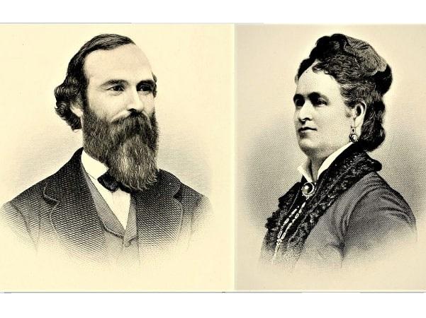 Illustration: James Leonard Plimpton and his wife Harriet Amelia Adams. Courtesy of the Society of Plimpton Descendants.