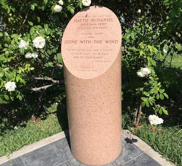Photo: cenotaph for Hattie McDaniel, Hollywood Forever Cemetery, Los Angeles, California