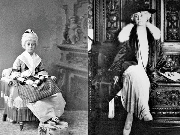 Photo: two images of Clara Endicott Sears. Courtesy of the Fruitland Museum Archives, 102 Prospect Hill Road, Harvard, Massachusetts.