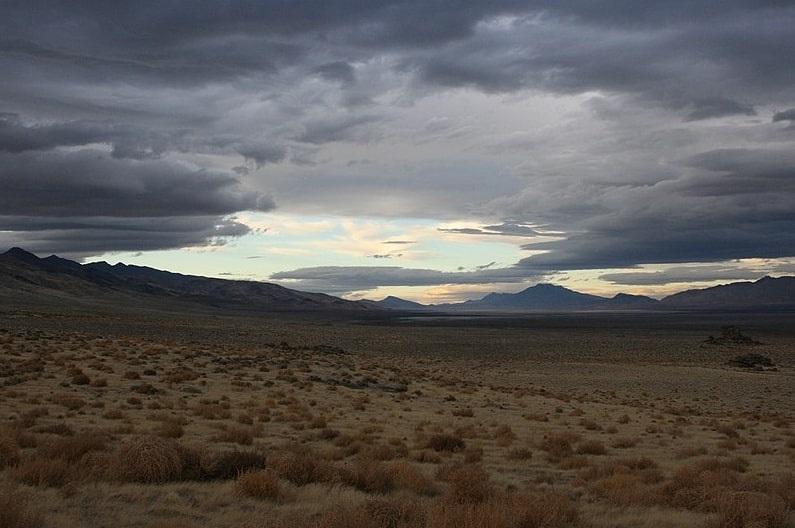 Photo: a valley near Pyramid Lake, Nevada
