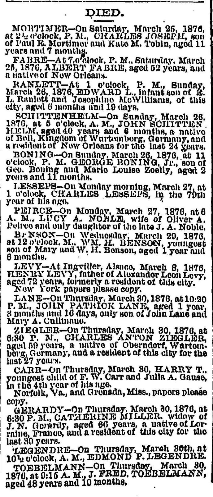 the state paper obituaries