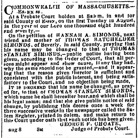 How to Find Ancestor's Legal Name Change Records with Newspapers