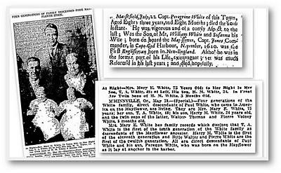 peregrine white genealogy family tree genealogybank